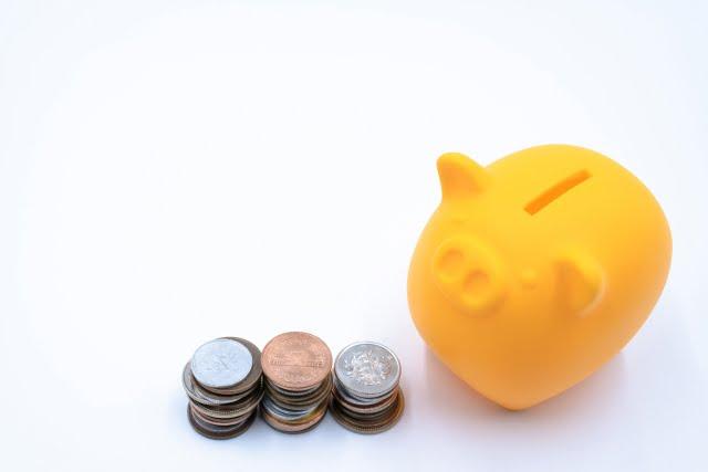貯金箱の小銭